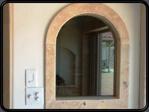 Window wrapped in Natural Stone